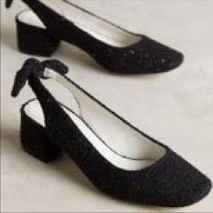 Anthropologie Shoes - NEW Bettye Muller Weekend Black Bow Slingbacks